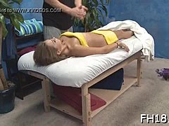 Sexy and horny eighteen year old bitch gets a hard fuck from her massage therapist