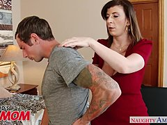 Buxom mommy Sara Jay seduces, sucks and fornicates her son's bud -Naughty America