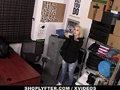 Shoplyfter - bosomy adolescent manhandled and hammered intense by security mature sex